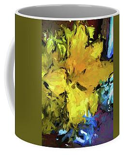 Yellow Flower And The Eggplant Floor Coffee Mug