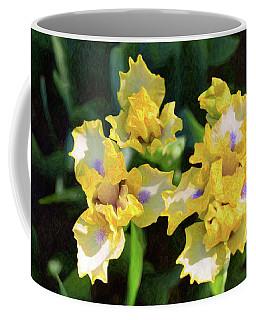 Yellow Irises - Joyful Reunion - By Omaste Witkowski Coffee Mug