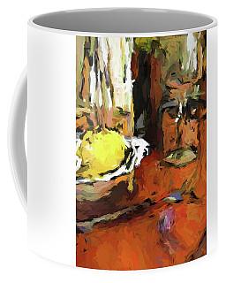 Yellow Lemon And The Wine Glass Coffee Mug