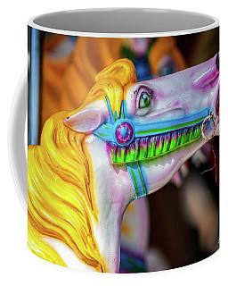 Yellow Mane Carousel Horse Coffee Mug