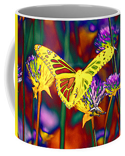 Yellow Monarch Butterfly Coffee Mug