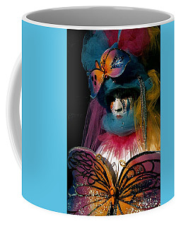 Yellow Pink Blue Butterfly Coffee Mug