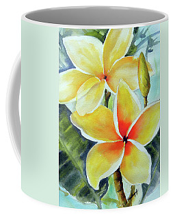 Yellow Plumeria Coffee Mug