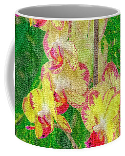 Yellow/rouge Orchids Coffee Mug