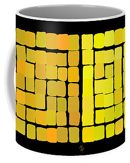 Yellow Triptych Coffee Mug