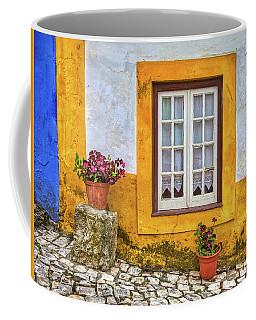 Yellow Window Of Obidos Coffee Mug
