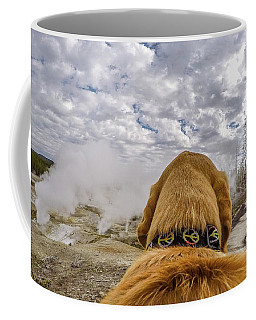 Coffee Mug featuring the photograph Yellowstone By Photo Dog Jackson by Matthew Irvin