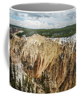 Coffee Mug featuring the photograph Yellowstone Canyon With Frosting by Matthew Irvin