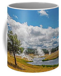 Coffee Mug featuring the photograph Yellowstone Rising by Matthew Irvin