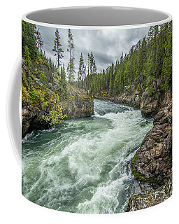 Coffee Mug featuring the photograph Yellowstone River Falling by Matthew Irvin