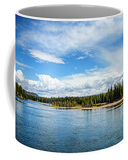 Coffee Mug featuring the photograph Yellowstone River by Mike Braun
