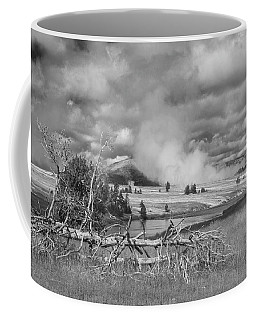 Coffee Mug featuring the photograph Yellowstone Steam by Matthew Irvin