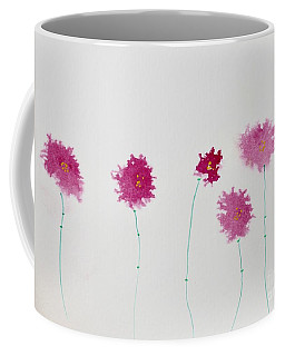 Coffee Mug featuring the painting Yesterday's Petals by Kim Nelson