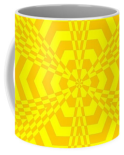 Coffee Mug featuring the painting Young At Heart Yellow by Arttantra