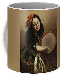 Young Girl With Tamburin Coffee Mug