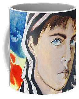 Coffee Mug featuring the painting Youth And Zebra Stripes by Rene Capone