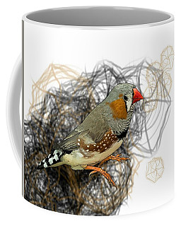 Z Is For Zebra Finch Coffee Mug