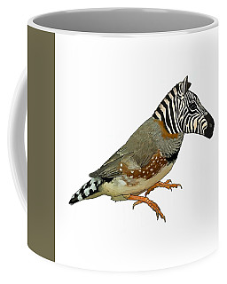 Coffee Mug featuring the drawing Z Is For Zebra Finch Thats Not A Zebra Finch by Joan Stratton