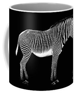 Zebra On Black Background Coffee Mug