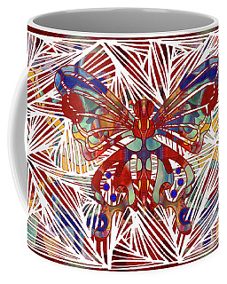 Zen Butterfly Abstract Digital Mixed Media Artwork By Omaste Witkowski Coffee Mug