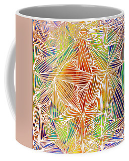 Coffee Mug featuring the digital art Zen Energy And Electricity In Motion Abstract Digital Mixed Media Artwork By Omaste Witkowski by Omaste Witkowski