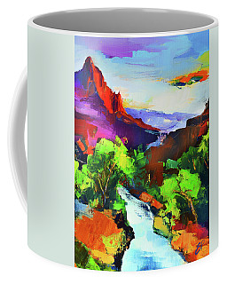 Zion - The Watchman And The Virgin River Coffee Mug