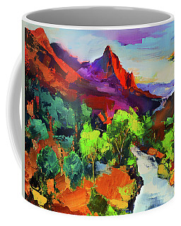 Zion - The Watchman And The Virgin River Vista Coffee Mug