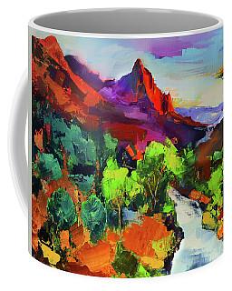 Zion - The Watchman And The Virgin River Vista Coffee Mug