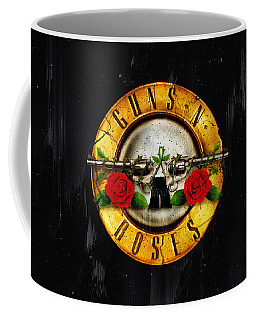 Guns /& Roses-Logo Mug Ceramic Cup Domed Mug-approx 470 ML