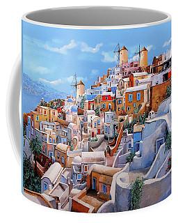 Santorini Coffee Mugs Fine Art America