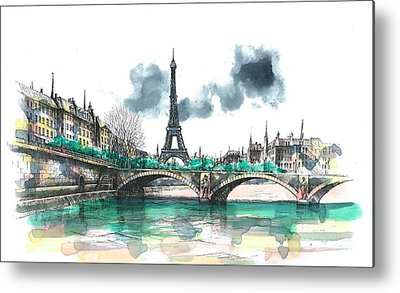 Paris Paintings Metal Prints