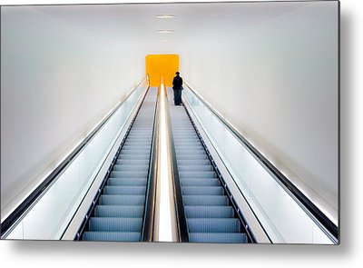 Escalator Metal Prints