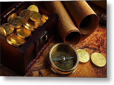 Treasure Hunt Metal Prints