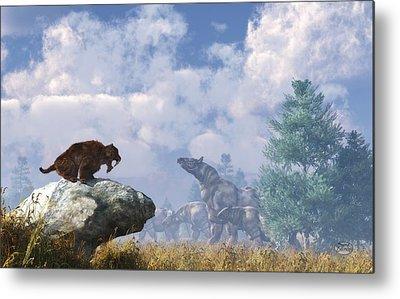 Rhinocerus Digital Art Metal Prints