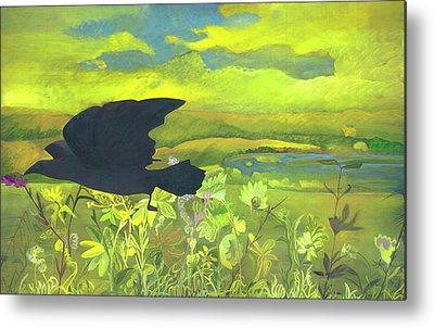 Creative Blackbird Paintings Metal Prints