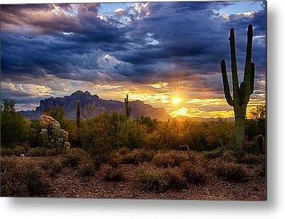 Superstition Mountains Metal Prints