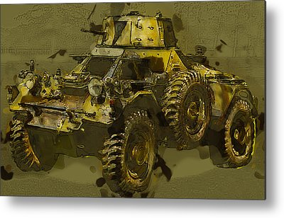 Historic Vehicle Mixed Media Metal Prints