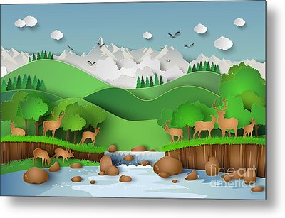 Designs Similar to Deer In The Forest With A