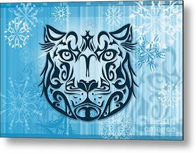 Snow Leopard Metal Prints