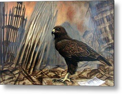 Hawk As War Symbol Metal Prints