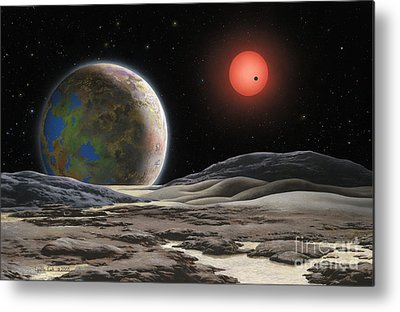 Planetary System Paintings Metal Prints
