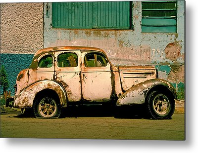 Rusted Cars Photographs Metal Prints