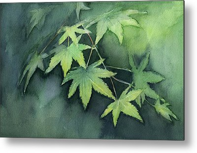 Maple Leaf Art Metal Prints