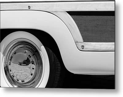 Old Woody Station Wagon Metal Prints