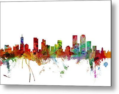 Denver City Metal Prints