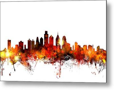 Philadelphia Skyline Metal Prints