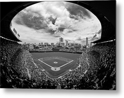Chicago Black White Metal Prints