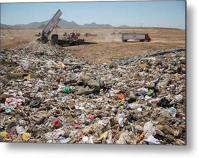 Rubbish Bin Photographs Metal Prints