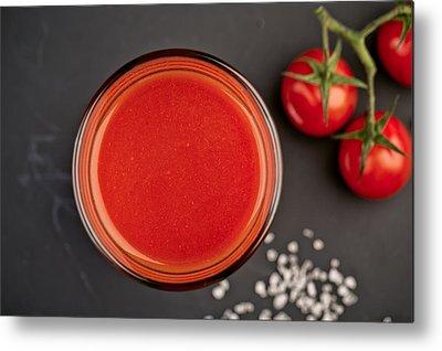 Cherry Tomato Metal Prints