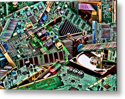 Microchip Photographs Metal Prints